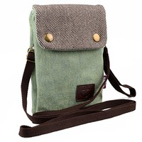 Dlames Canvas Small Cute Crossbody Cell Phone Purse Wallet Bag with Shoulder Strap for iphone 6 6s 7 Plus , Samsung Galaxy S7 Edge S8 Edge (Fits with OtterBox SYMMETRY SERIES Case )