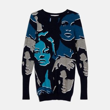 Faces Print Sweater - Stella Mccartney