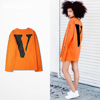 Men's Famous streetwear Long-sleeved shirt (Vlone)