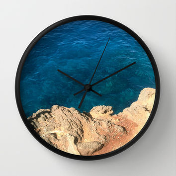On the Edge Wall Clock by Kelli Schneider