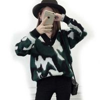 Harajuku Autumn Winter Oversized Soft Warm Christmas Sweater with deer Pull femme Women Pullovers korean Sweaters unif 650021