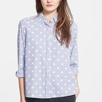 Women's The Great 'The Swing' Polka Dot Oxford Shirt,