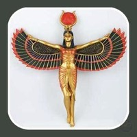 """Isis"" Egyptian Goddess Open Wings Wall Plaque"
