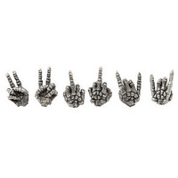 Obey Accessory Devil in Disguise Earring Set in Silver