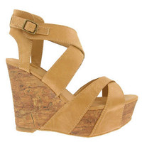 Light Tan Strappy Wedge Sandals and wide range of Unique Wedge Sandals at ElectriqueBoutique.com