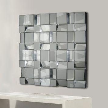 Unframed Square Wall Mirror