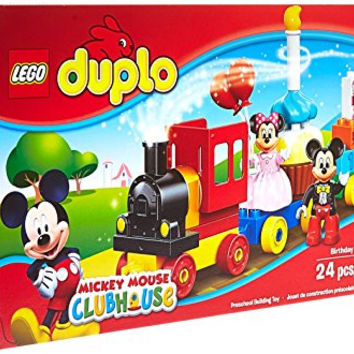 LEGO DUPLO Disney Mickey Mouse Mickey and Minnie Birthday Parade 10597, Preschool, Pre-Kindergarten Large Building Block Toys for Toddlers