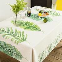 Redwood Leaves Indoor / Outdoor Tablecloth