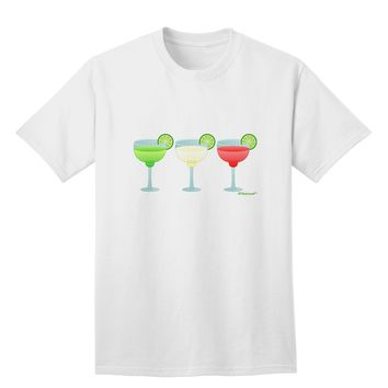 Margaritas - Mexican Flag Colors - Cinco de Mayo Adult T-Shirt by TooLoud