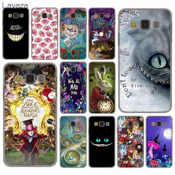 Lavaza Alice in Wonderland cat Hard Case for Samsung Galaxy S9 S8 Plus S3 S4 S5 S6 S7 Edge S9 Plus Phone Cover