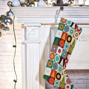 Sharon Turner Geo Christmas Stocking