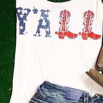 USA Y'ALL TANK IN WHITE