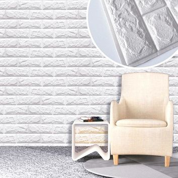 PE Foam 3D Wall Stickers DIY Decorative Kitchen Bedroom Decor Wallpaper Children Kids Living Room Decorative Brick Stickers