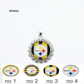 Seeds Buckle Pittsburgh Steelers Dangle Charm With Lace DIY Accessories For Necklace 10PCS