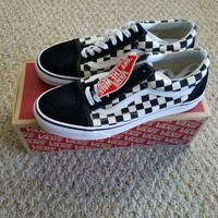 Gotopfashion NEW!Vans Old Skool Checkerboard Black Checker Primary Check VN0A38G1P0S size 9.5