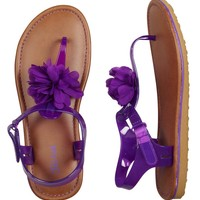 Jelly Flower T-Strap Sandals | Bright And Breezy | Hottest Outfits | Shop Justice