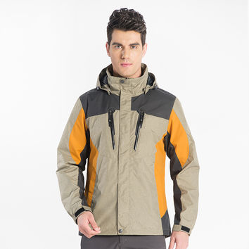 Camping Outdoor Jacket Color Matching Spring Outdoor Single Ski-wear Male Wind Resistant Coat Hunting Clothes HIKING JACKETS