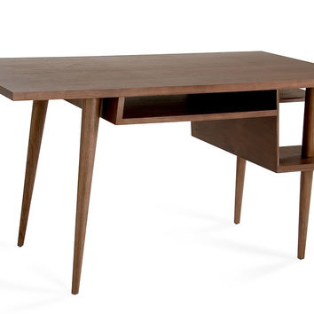 Modrest Codex Modern Tobacco Desk & Chair Set