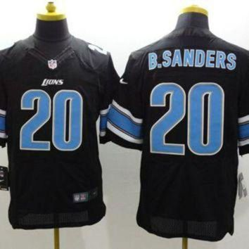 PEAP1N Nike Detroit Lions #20 Barry Sanders Black Alternate NFL Elite Jersey