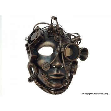 Steampunk Full Face With Goggle And Lights