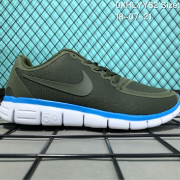 HCXX N084 Nike Air Zoom Free RN 5.0 Breathable Causal Running Shoes Green