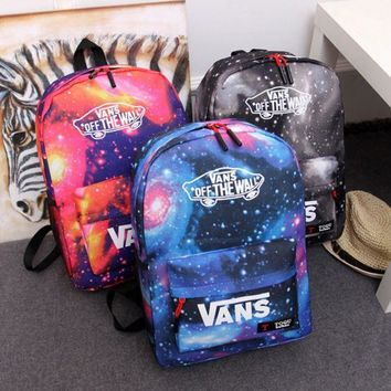 CREY5N1 VANS : Galaxy Casual Sport Laptop Bag Shoulder School Bag Backpack