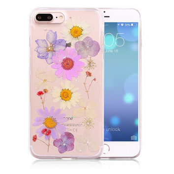 LIMITED Handmade Pressed Flower Case Real Dried Flowers Phone Case Cover for iPhone 7 7Plus & iPhone se 5s 6 6 Plus