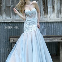 Sherri Hill 11155 Lace Mermaid Prom Dress