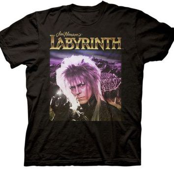 Labyrinth Crystal Ball David Bowie Jim Henson Movie Adult T Shirt