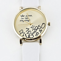 Who Cares I am Late Anyways Watch - 5 Colors