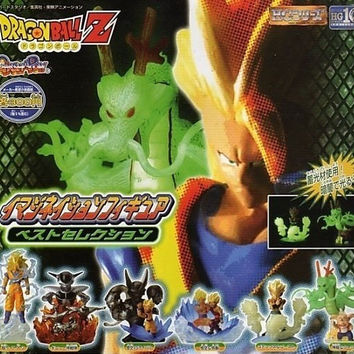 Bandai Dragon Ball Z DBZ Gashapon Imagination Best Selection 6 Trading Collection Figure Set