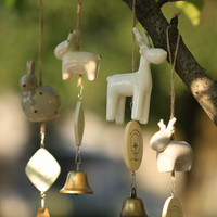 Pottery Wind Bell Innovative Animal Home Decor [6281771142]