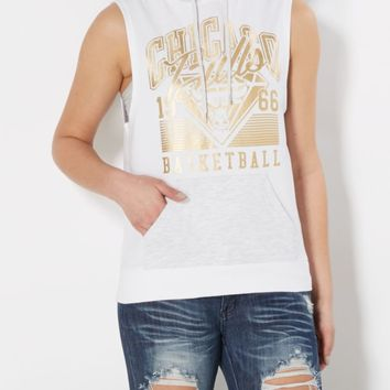 Chicago Bulls Sleeveless Foil Hoodie | Graphic Tanks | rue21