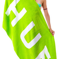 HUF Original Logo Beach Towel Green One