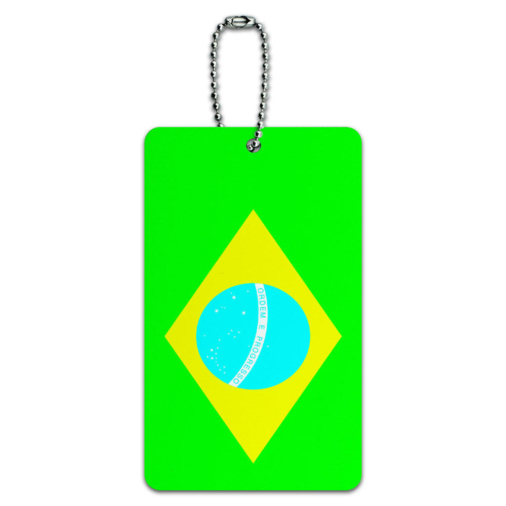 Brazil flag id card luggage tag from graphics and more