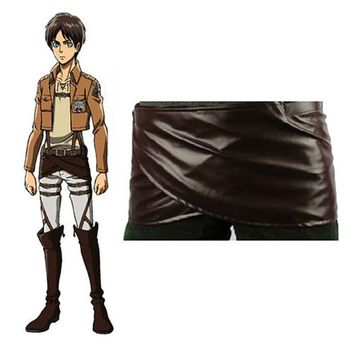 Cool Attack on Titan Japanese Anime Cosplay  No  LeatherSkirt Hookshot Halloween Costume Chocolate  Belt Skirt AT_90_11