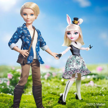 Original Ever After Hight Alistair Wonderland Boy Bunny Blanc Rabbit Dolls For Girls  Brand Christmas Gifts Toys For Kids