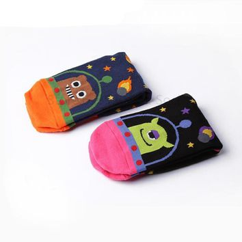 Animal Lovely Cartoon Space Alien Socks Funny Crazy Cool Novelty Cute Fun Funky Colorful