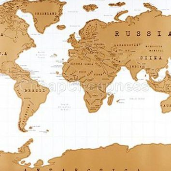 Travel Scratch Off Map Personalized World Map Poster Traveler Vacation Log National Geographic Map The World School Office Tool
