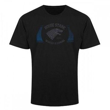 Game Of Thrones HOUSE STARK BAND WINTER IS COMING T-Shirt NWT Licensed  Official
