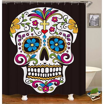 Sugar Skull 3D Waterproof Shower Curtain