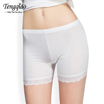 Seamless Lace Safety Pants BlackWhiteKhaki Lace Short Pants High Waist Underwear Sexy Sports Pants  Shorts SM6