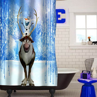 olaf frozen curtain custom shower curtain