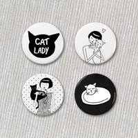 Cat lady button set