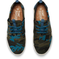 CAMO CANVAS PRINTED WOMEN'S DEL REY SNEAKERS
