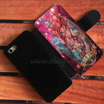 Princess Ariel Mermaid Wallet iPhone cases Disney Samsung Wallet Phone Case