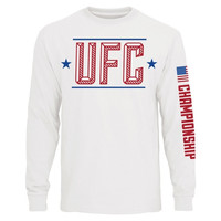 UFC Youth Capitol Long Sleeve T-Shirt – White - http://www.shareasale.com/m-pr.cfm?merchantID=7124&userID=1042934&productID=554798535 / UFC