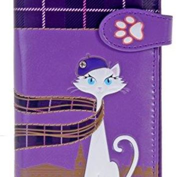 Shagwear Womens Large Clutch Wallets With Zipper Pocket Cats and Dogs Designs