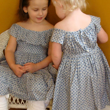 size 6 12 Civil War Childs Dress Custom to by handstitchesintime