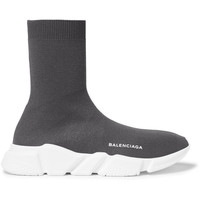 Balenciaga - Hi-Sock Stretch-Knit Sneakers